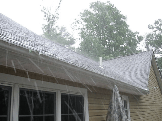 roof hail storm damage